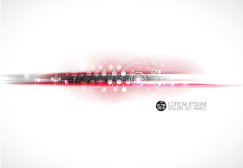 Abstract futuristic motion blurred technology line, vector
