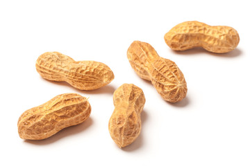 Several Raw Peanuts