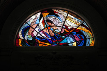 Stained glass window of Fatima