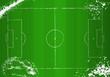 Soccer o.  Football tactical diagram, grunge style, vector