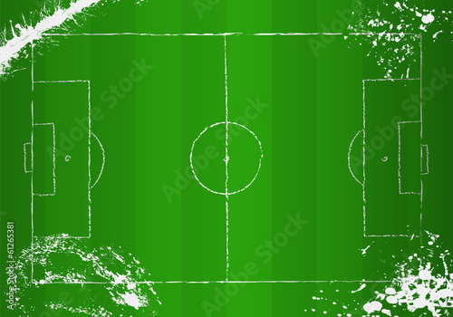 Soccer o.  Football tactical diagram, grunge style, vector