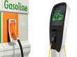Gas station and electric vehicle quick charger station