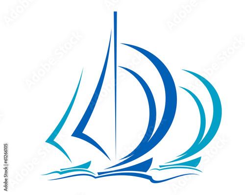Dynamic motion of sailboats - 61266105