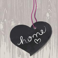 signboard,banner,vector,heart,home,wood,text