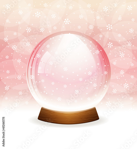 Vector snow globe. Layered.