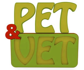 pet and vet 3d text