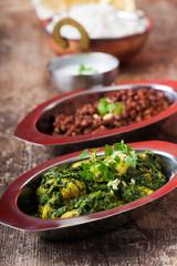 indisches Murgh Palak Curry Gericht