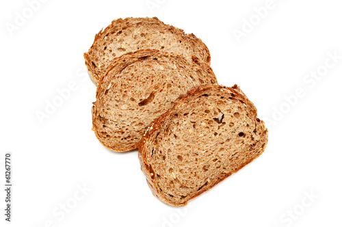 Fresh bread isolated, sliced ​​bread