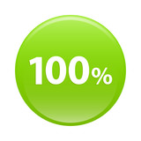 bouton internet 100% icon green sign