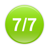 bouton internet 77 icon green sign seven by seven