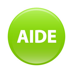 bouton internet aide icon green sign