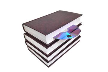 CD-диск вложен в книгу. Варианты хранения информации