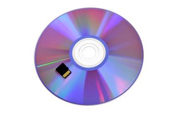 CD-диск и карта памяти. Варианты хранения информации
