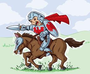 Cute Charging Knight