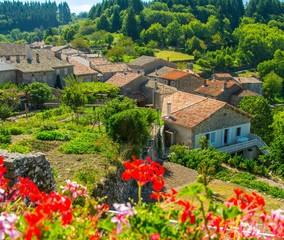 Magnifique village de Chalencon en Ardèche, France