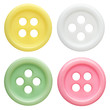 collection of buttons on white background