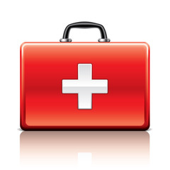 First aid kit isolated on white vector