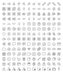 168 Pixel perfect line icons pack for your design