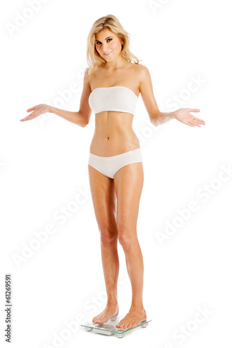 Woman Happy With Her Weight.