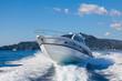 Leinwanddruck Bild - motor boat