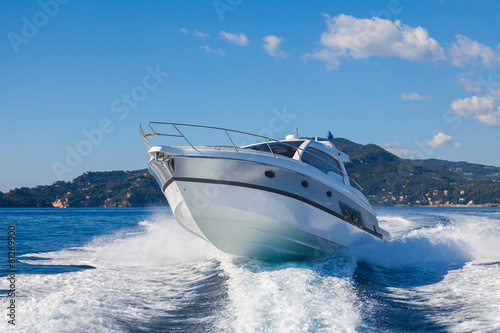 canvas print picture motor boat