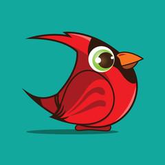 cardinal bird cartoon