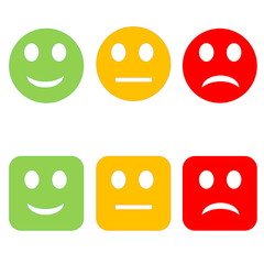 Colorful smileys