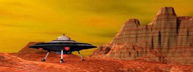 UFO landed - 3D render