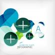 Glossy circle geometric shape info background