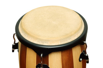 isolated  african conga drum