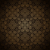 Dark gold seamless pattern
