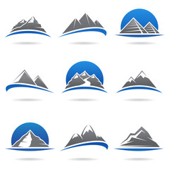 Mountains set. Vector