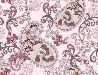 paisley in purple tones with large flowers