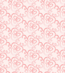 seamless  pink abstract pattern with swirls