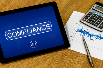 compliance on digital tablet