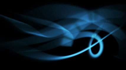 abstract blue light rays in curved motion - seamless background