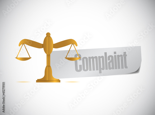 complaint balance sign illustration design