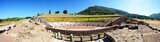 The Panorama of ruins in ancient Messene (Messinia), Peloponnes,