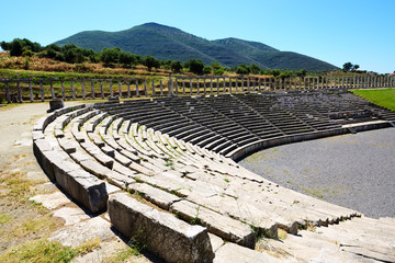 The stadium in ancient Messene (Messinia), Peloponnes, Greece