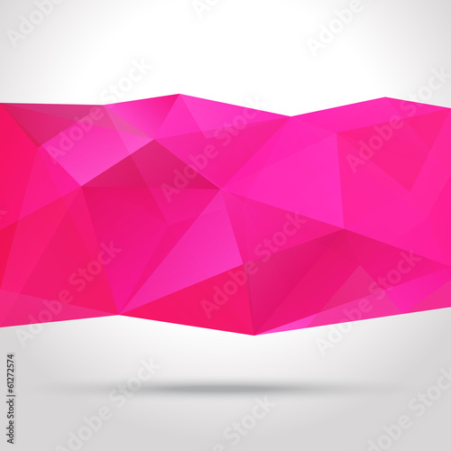 Abstract background with polygonal shape, vector