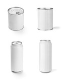 white box container template tin can drink food package