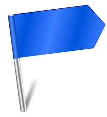Fähnchen Sticker Pin blau  +140209-svg02
