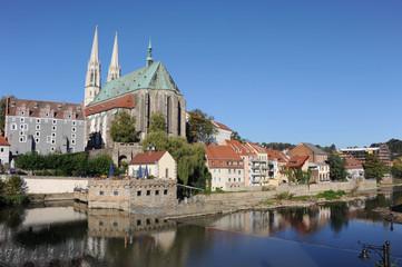 Stadtansicht Görlitz, Pfarrkirche St. Peter und Paul, Waidhaus