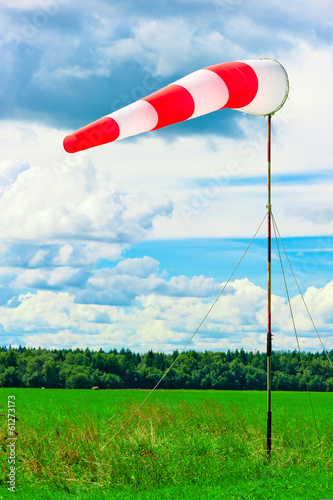 windsock at the airport shows wind direction