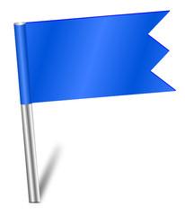Fähnchen Sticker Nadel blau  #140209-svg03