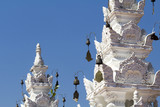 wind chime of  Thai traditional temple ,Chiangmai Thailand. poster