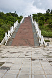 Stairs leading to war memorial in Dien Bien Phu, Vietnam
