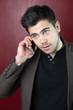 Personnage - Jeune homme téléphonant 01
