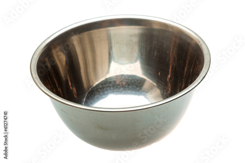 Foto op Canvas Voorgerecht Empty metall bowl