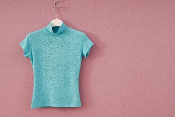 turquoise female tee-shirt